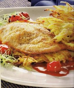 Putenschnitzel mit Kirschen