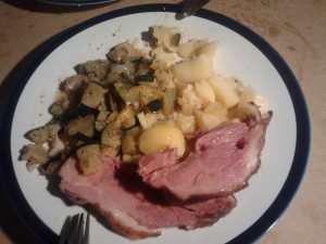 Schiffala mit Kartoffeln und Zucchini