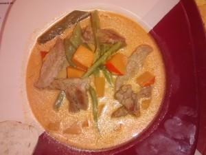 Kürbissuppe mit Lamm