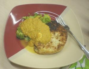 Sellerieschnitzel mit Brokkoli